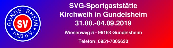 Kirchweih in der SVG Gaststätte @ Sportgaststätte Gundelsheim